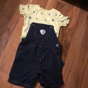 Carters's Overall Shorts Set